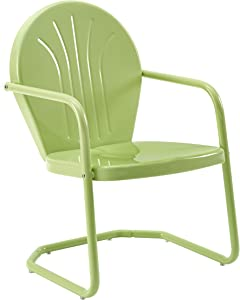 Crosley Furniture CO1001A-KL Griffith Retro Metal Outdoor Chair, Key Lime