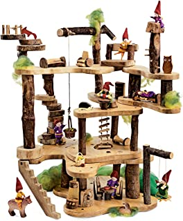 """product image for Magic CabinTree Fort Super Saver, Includes Wooden Tree Fort Kit (Approx. 28"""" H x 20"""" diam.) and Building Pieces, Woodland Friends, Woodland Animals and Furniture Collection"""