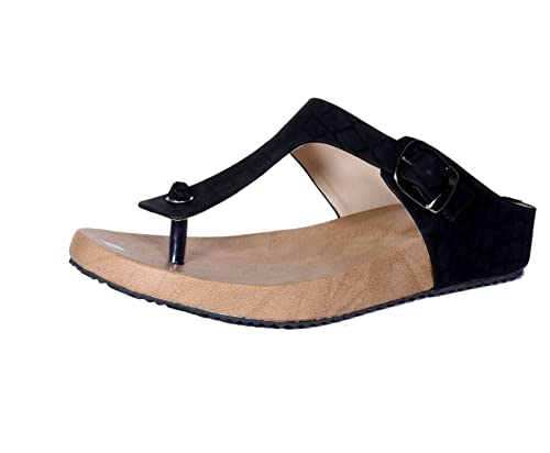 bb9112630182b Indistar Girls Stylish Black Flat Sandal  Buy Online at Low Prices in India  - Amazon.in