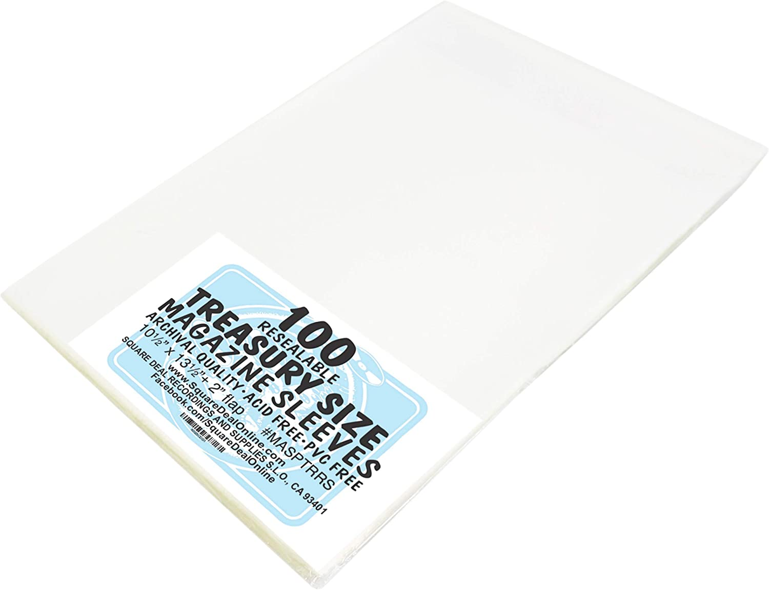 Acid Free Backer Boards Max 100 Treasury Comic Book 2-Mil Archival Poly Bags