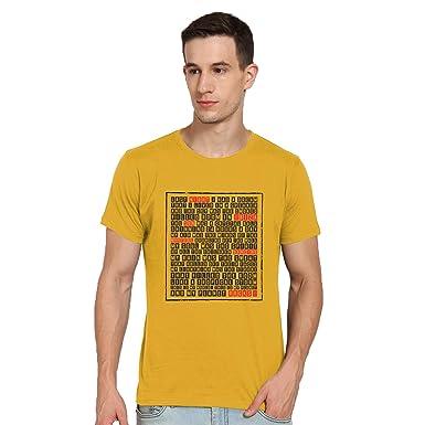9adb021c30c Tantra Ibiza Amber Color Cotton Tshirt for Mens: Amazon.in: Clothing ...