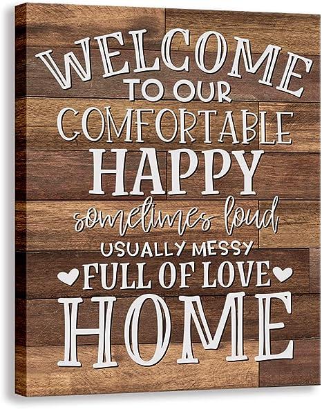 Family Farmhouse Canvas Sign
