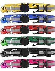 SCIROKKO Cat Collar Quick Release with Bell Reflective Collars 6 Packs