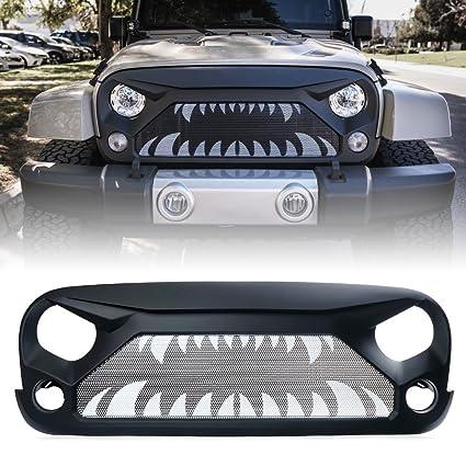 Jeep Wrangler Grill >> Amazon Com Xprite Jeep Wrangler Jk Jku Grill Gladiator