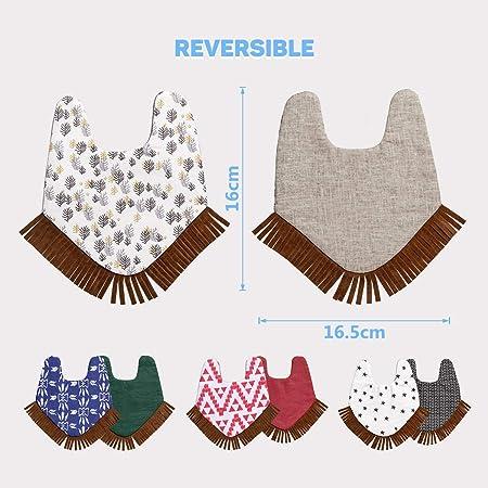 Amazon.com: WIPALO Baberos de algodón absorbentes ...