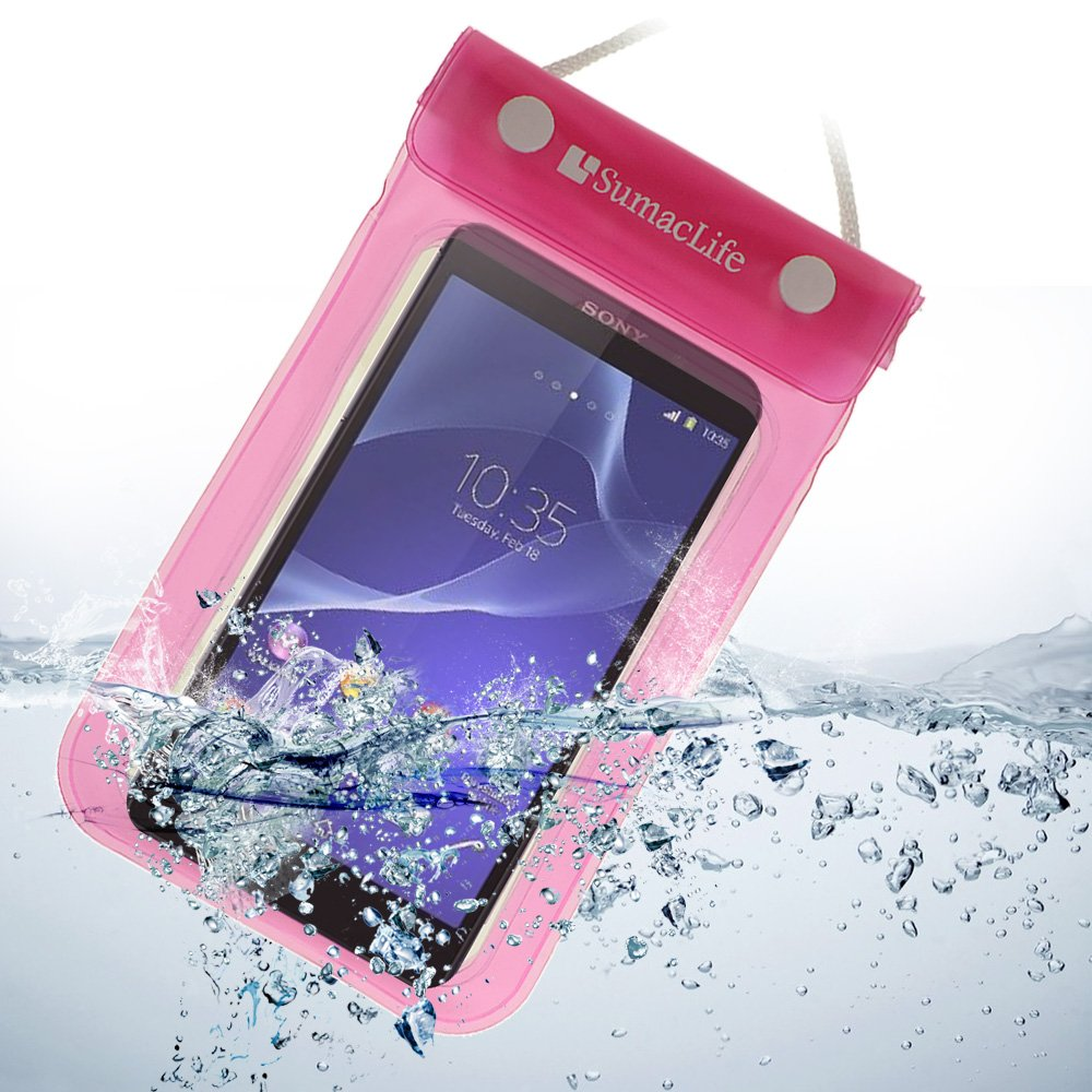 half off 960a1 3bea2 Amazon.com: SumacLife Waterproof pouch case for Sony Xperia T3 ...