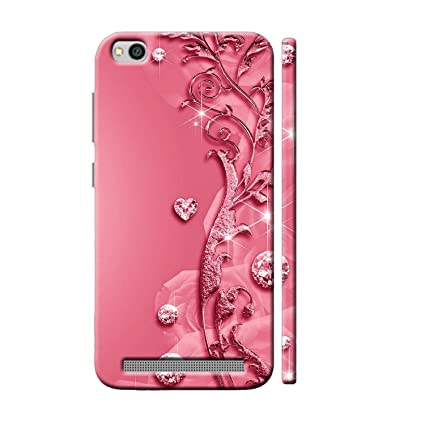 reputable site 4c4e8 7c3cf Clapcart Redmi 5A Designer Printed Back Cover for Xiaomi Redmi 5A / MI  Redmi 5A - Pink Color (Heart Design Print for Girls)