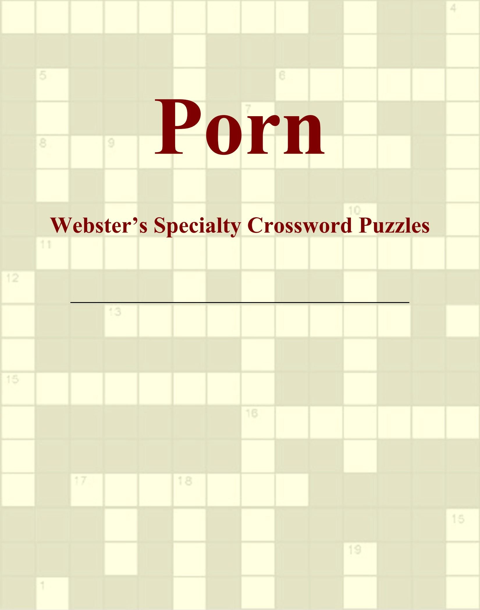 Porn - Webster's Specialty Crossword Puzzles ebook