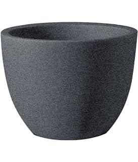 Pflanztopf Bassone Rund Taupe Granit Durchmesser 60 Cm X Hohe 46