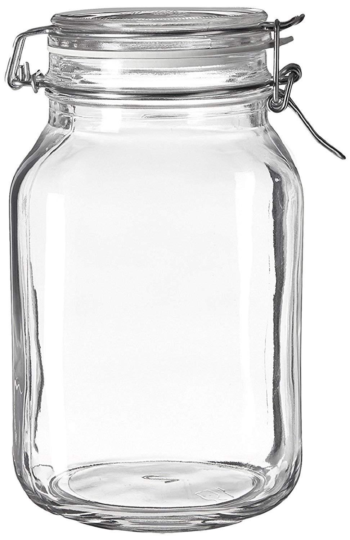 Case of 6 Bormioli Rocco Fido Glass Canning Jar Italian - 2 Liter by Bormioli Rocco