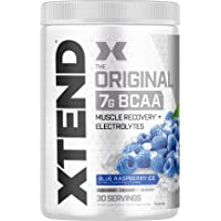 XTEND Original BCAA Powder Blue Raspberry Ice - Sugar Free Post Workout Muscle Recovery Drink with Amino Acids - 7g…
