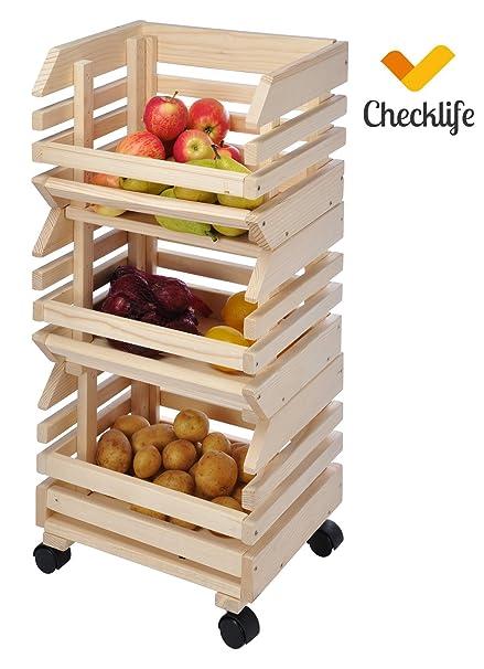 Cajas de ruedas de patata caja de frutas caja de madera Früchtehorder