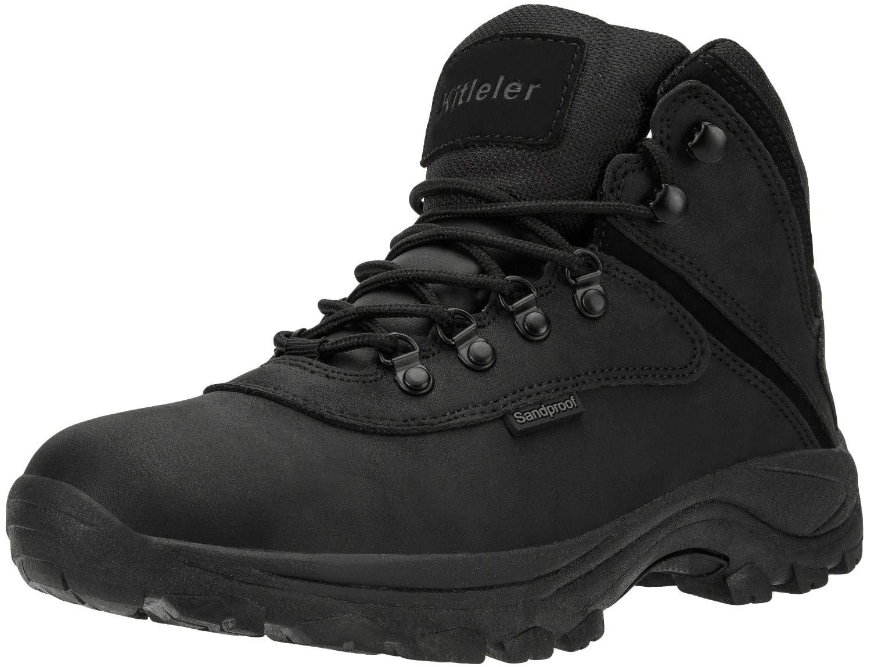 Kitleler Men's Hiking Waterproof Boots Lightweight Outdoor Backpacking Boots(New8808-5Black-45) by Kitleler