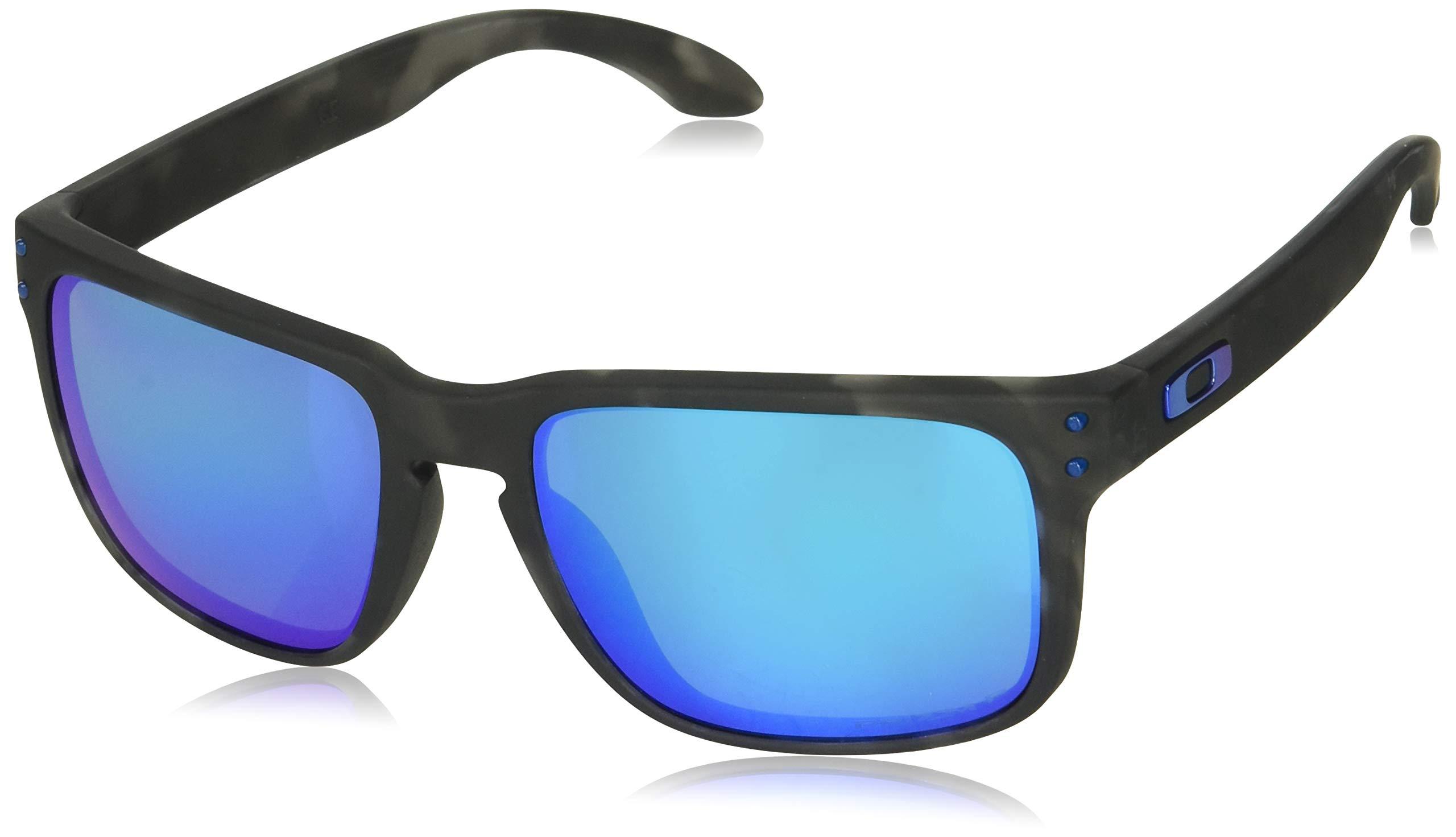 Oakley Men's Holbrook Polarized Iridium Square Sunglasses MATTE BLACK TORTOISE 57.0 mm