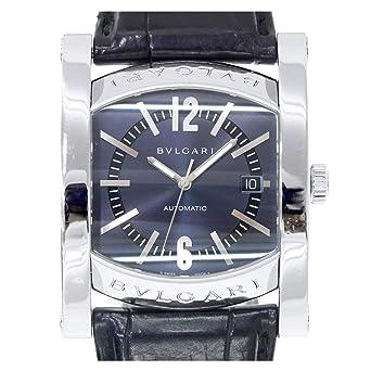 c9696f76bc5b ブルガリ BVLGARI アショーマ AA48S メンズ 腕時計 デイト ネイビー 文字盤 オートマ 自動巻き ウォッチ 【中古