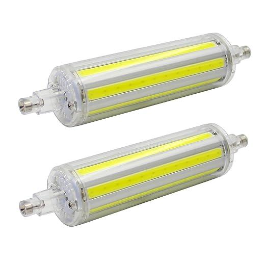 2 pieza R7S 12 W 118 mm Bombilla LED Incluida Bombilla, color blanco frío 6000