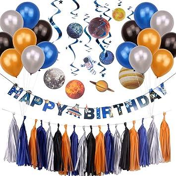 Amazon.com: Paquete de fiesta de cumpleaños con diseño de ...