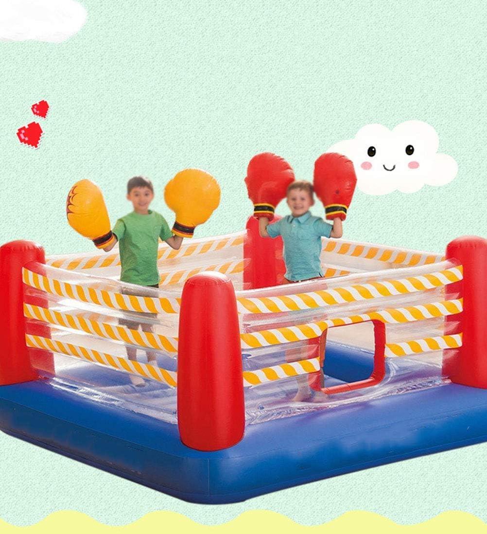 Inflable Castillo Hinchable, inflables de Familia de los niños Castillo Boxeo Cubierta Trampolín Inicio Pequeño Salto Cama Game House Travieso Castillo de Juguete 226 * 226 * 110cm zhihao