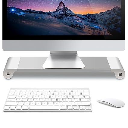 GBL® Elevador de Monitor Pantalla de Ordenador Pantalla Plana TV Soporte para portátil con 4