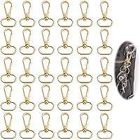 Metalen karabijnhaak met D ring 30 stuks D ring sleutelhanger 25 mm karabijnhaak Draaibare karabijnhaak Zinklegering Tas…