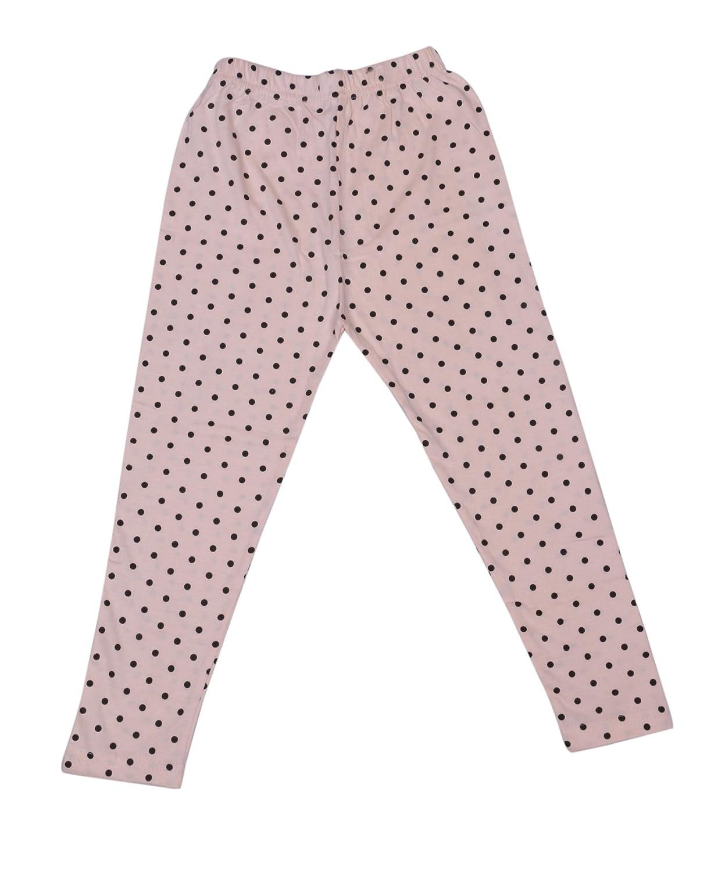 Indistar Girls Cotton Printed Leggings Pants Pack of 4