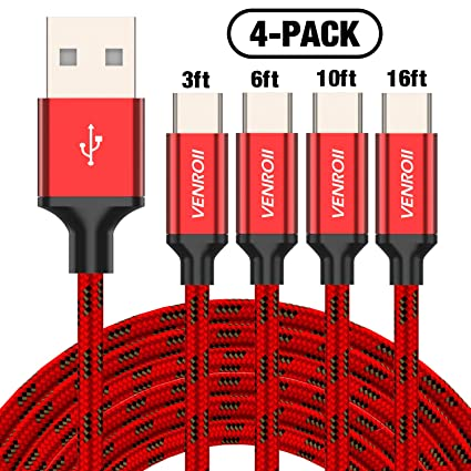 Amazon.com: Cable USB tipo C, VENROII cable de carga rápida ...