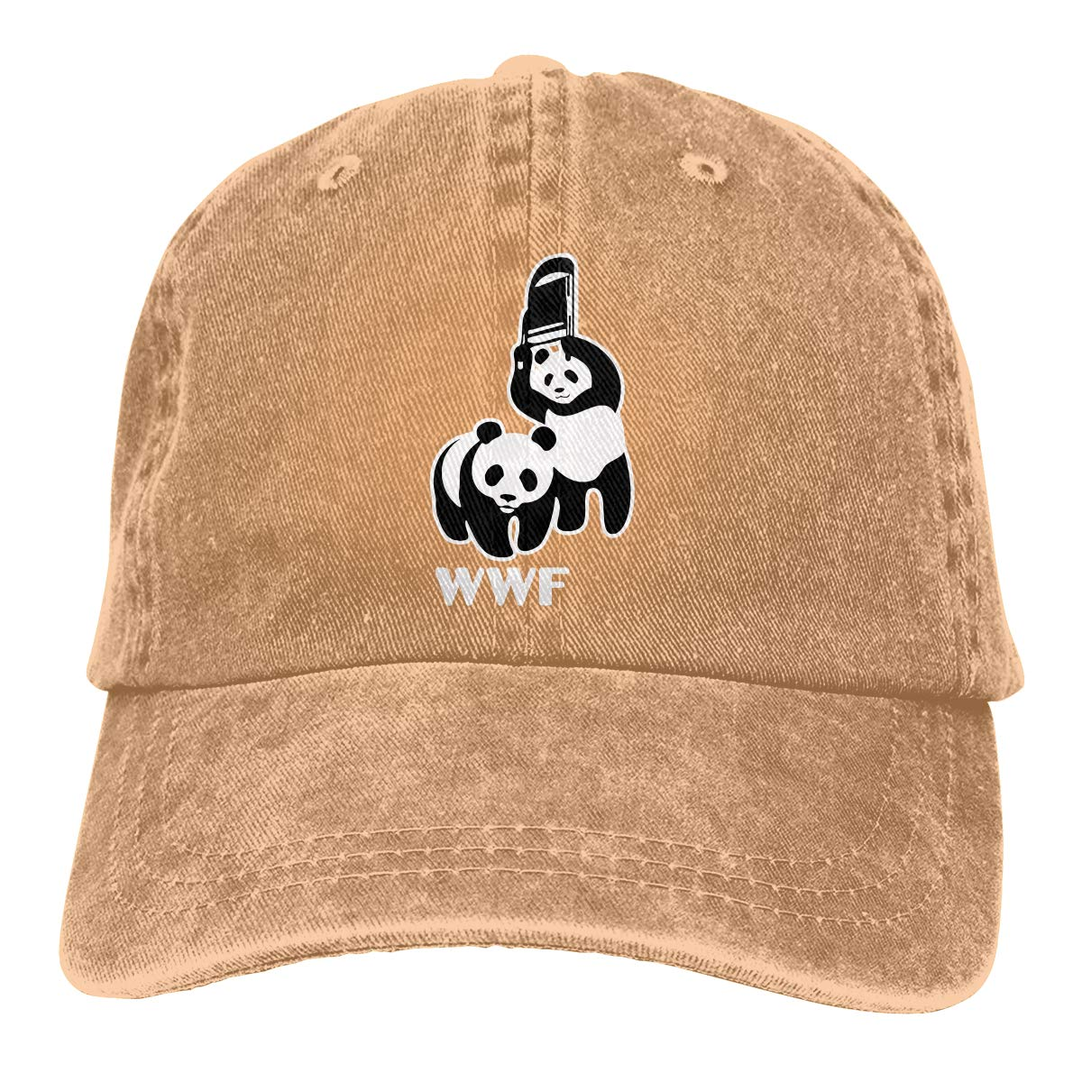 357390afea9 Wwf panda bear wrestling adjustable baseball caps denim hats cowboy sport  outdoor at amazon men clothing