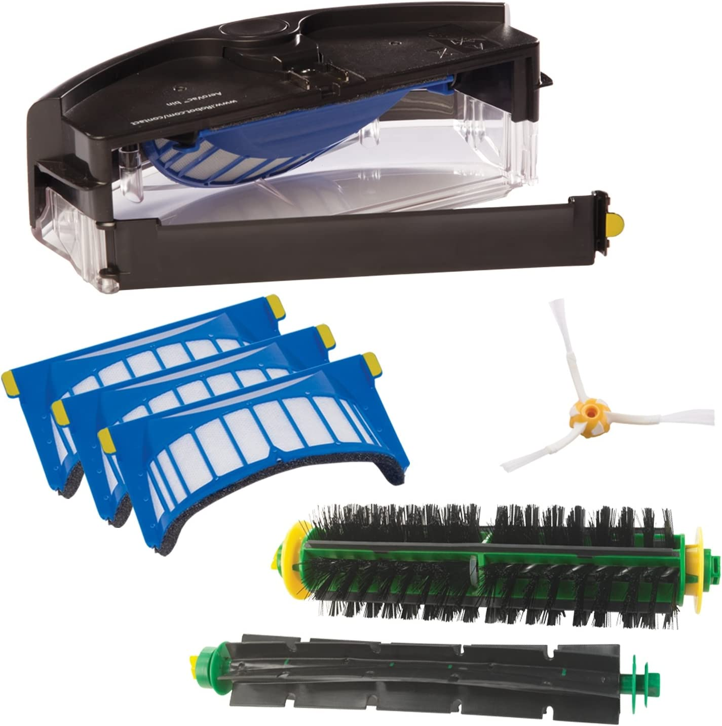 KIT MEDIUM 4 SPAZZOLE LATERALI PER IROBOT ROOMBA 870  871  872  873  874  875