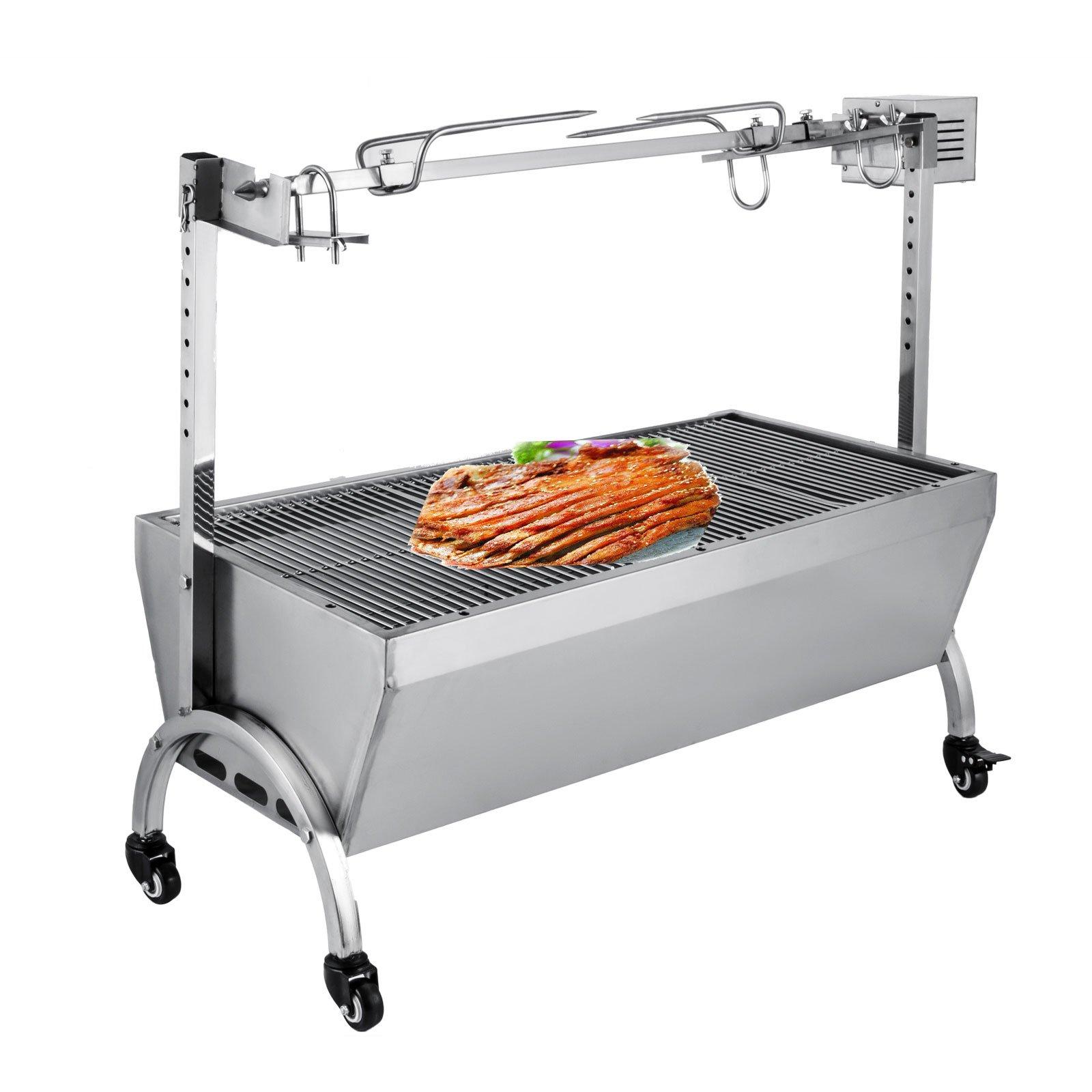 OrangeA 18W BBQ Pig Lamb Rotisserie Roaster Skewer Roast Grill Motor 110V, Capacity 88Lbs/40KG