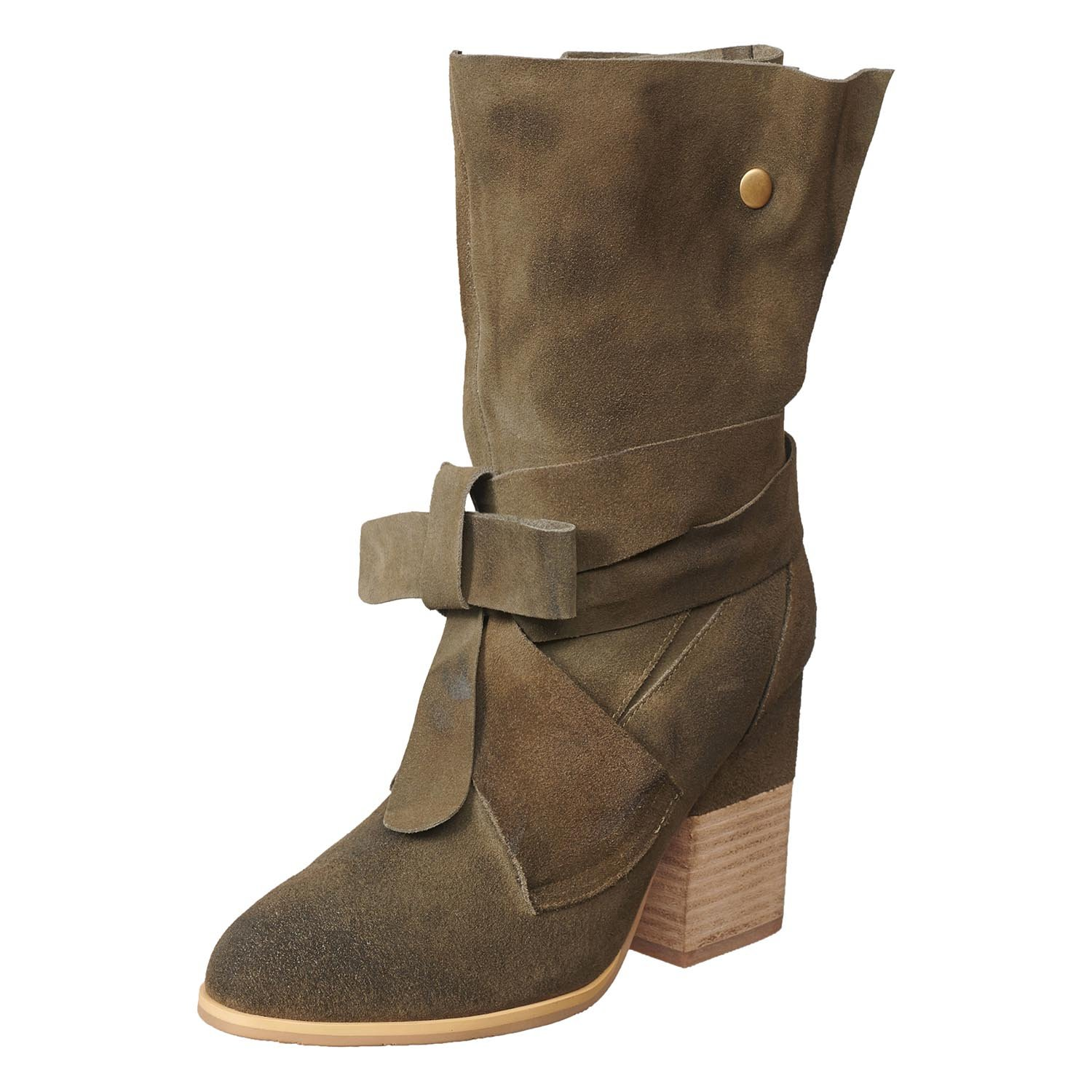 Khaki Antelope Women's 907 Suede All Tied Boot