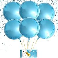 "Hangable 4 Count 16"" Red 4D Large Round Sphere Aluminum Foil Balloon Mirror Metallic Xmas Red Balloon Birthday Party…"