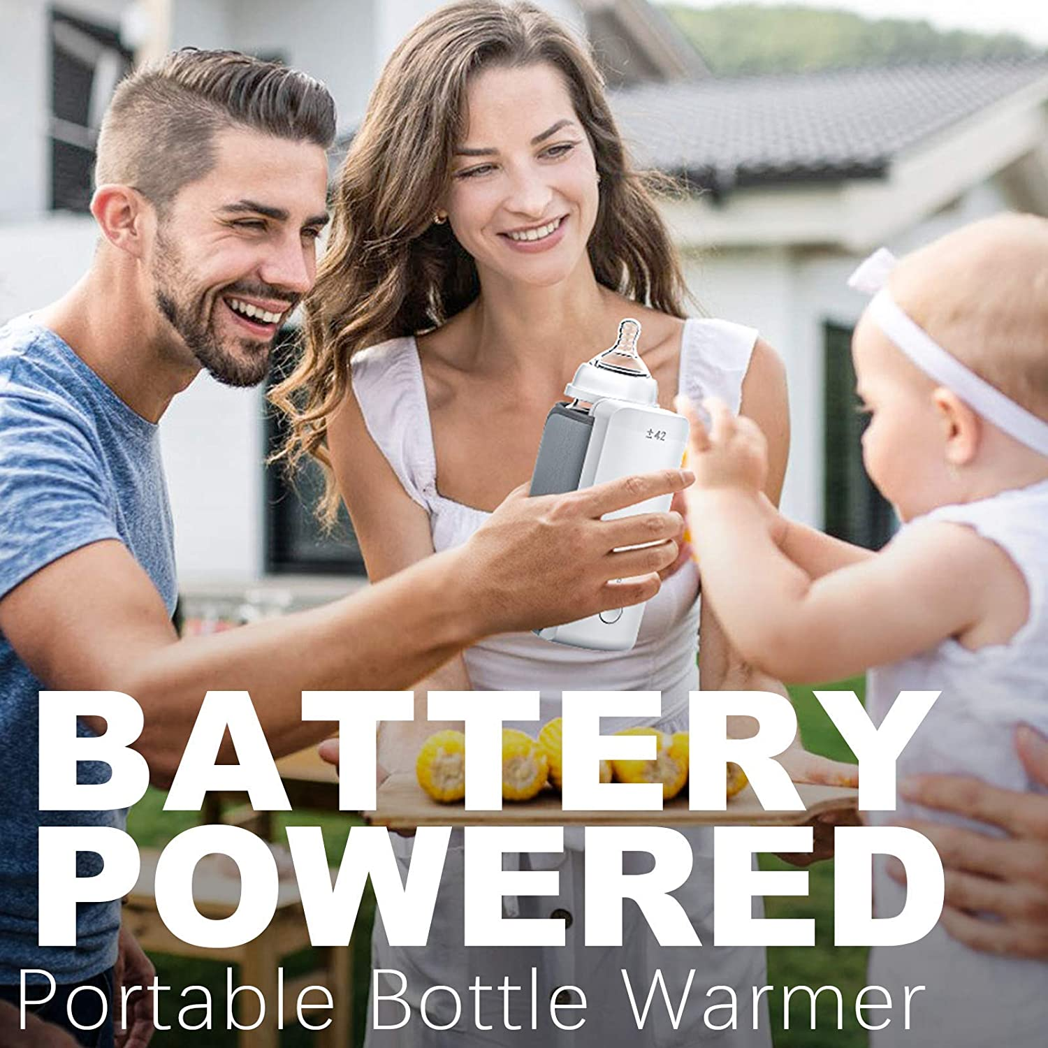 Portable Bottle Warmer for Travel,Build in 5200 mAh Battery Powered,Wireless Warms-Baby Formula or Breast Milk Evenly Without Pour Water,Smart Temperature Control Perfect for Car,On The Go