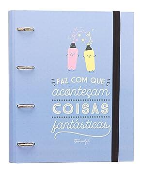 Mr. Wonderful WOA03711PT - Carpeta con anillas, contenido en portugués, diseño Haz que sucedan cosas increíbles: Amazon.es: Oficina y papelería