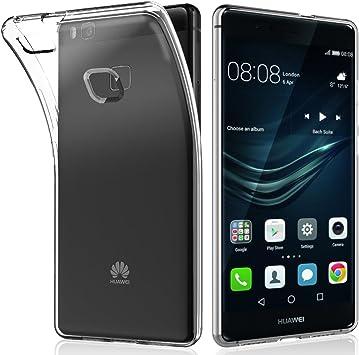 NEWC Funda para Huawei P9 Lite, Anti- Choques y Anti- Arañazos, Silicona TPU, HD Clara: Amazon.es: Electrónica