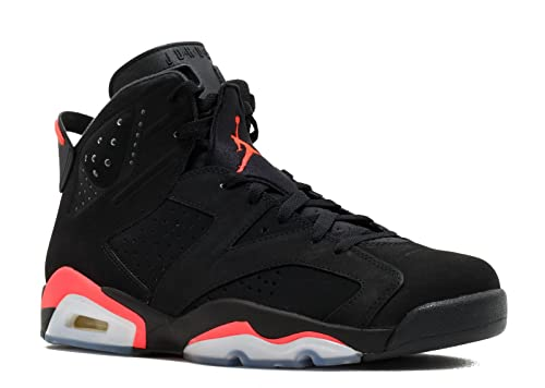 separation shoes 9403a 8e9be Nike Mens Air Jordan 6 Retro Infrared Suede Basketball Shoes Black Infra  Red 11 D(M) US  Buy Online at Low Prices in India - Amazon.in