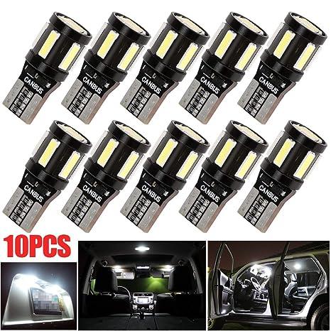 T10 W5W CANBUS Coche LED Bombillas 12V 6000K 194 4x3030 + 7x7230 Para Coches Luces De