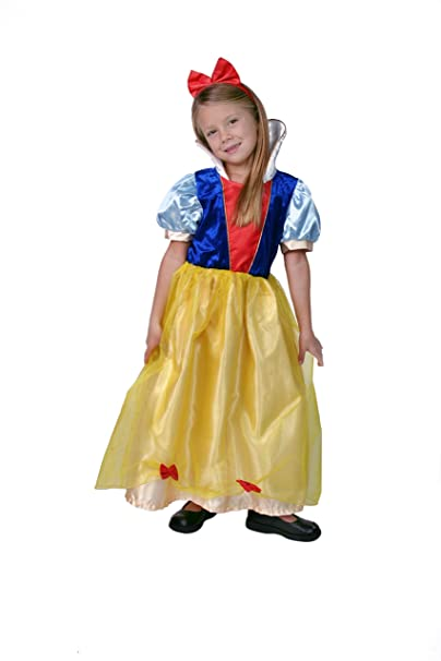 Girls Yellow/Blue Snow Princess Dress Size 8/10