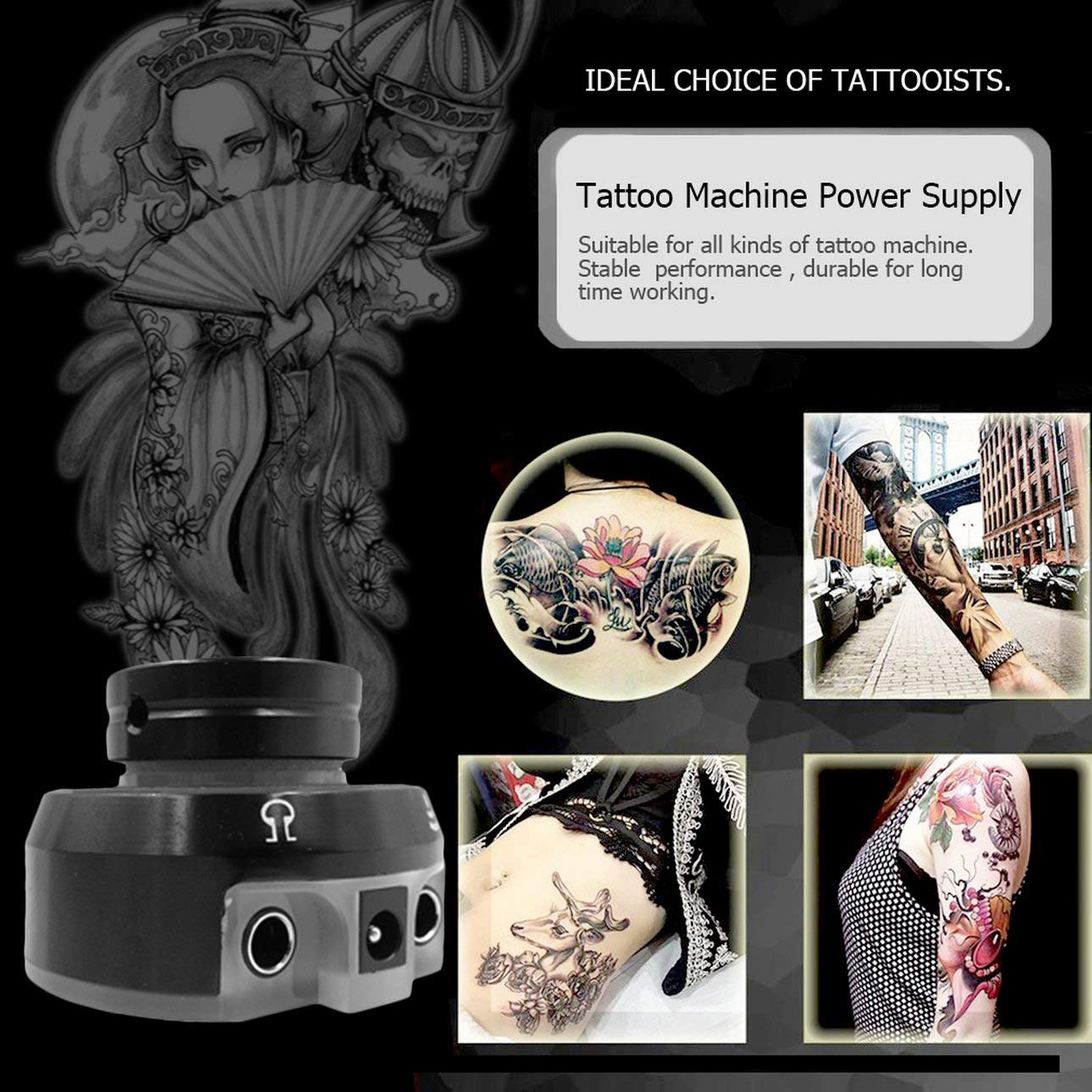 Amazon.com : Liobaba Colorful Rainbow Change Color Voltage Tattoo Power Supply Aluminum Alloy Rotary Switch Professional Tattoo Machines Supplies : Beauty