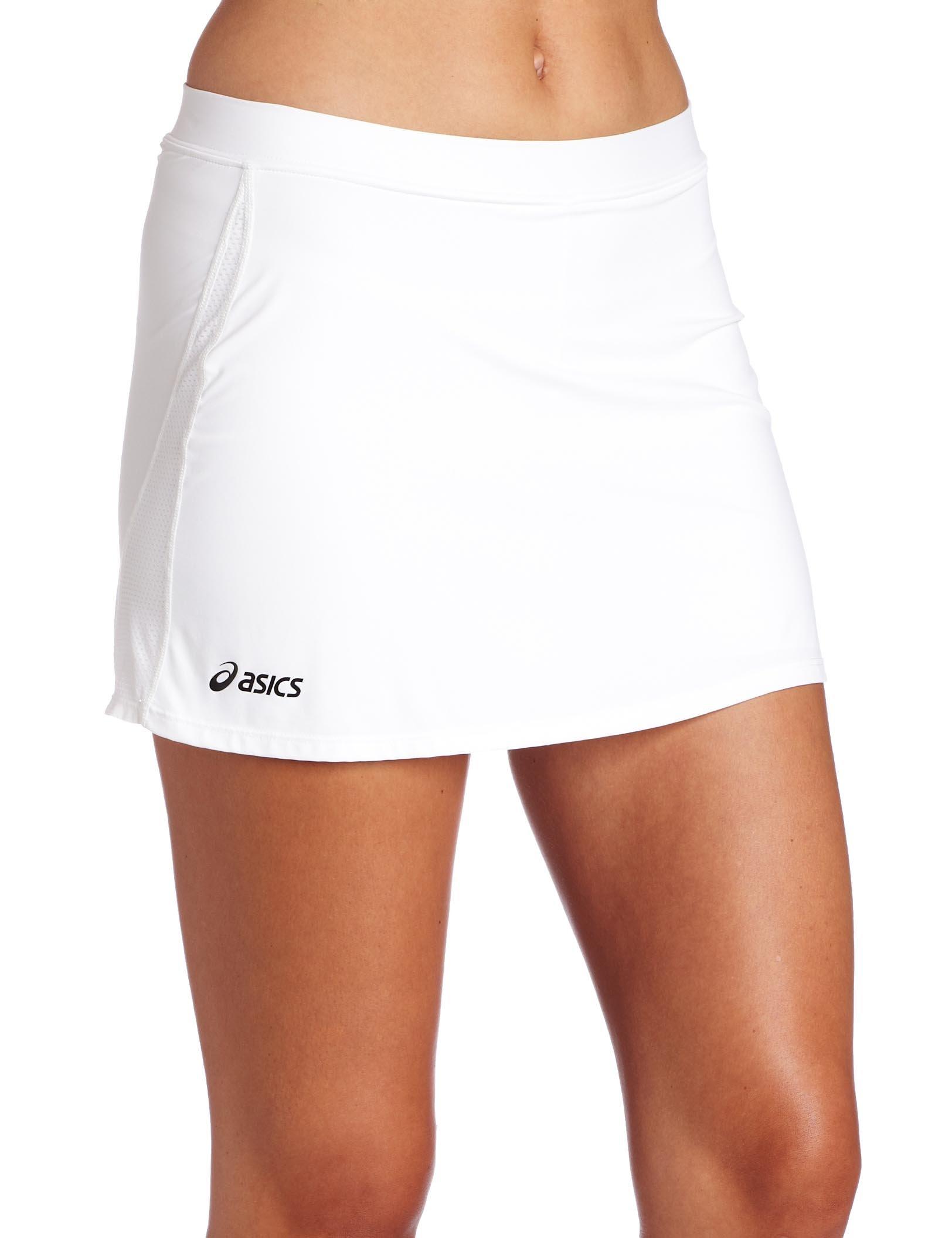ASICS Women's Striker Skort, White, X-Large