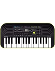 Casio 32 Note Mini Key Musical Portable Keyboard, Black/Green, (SA46)