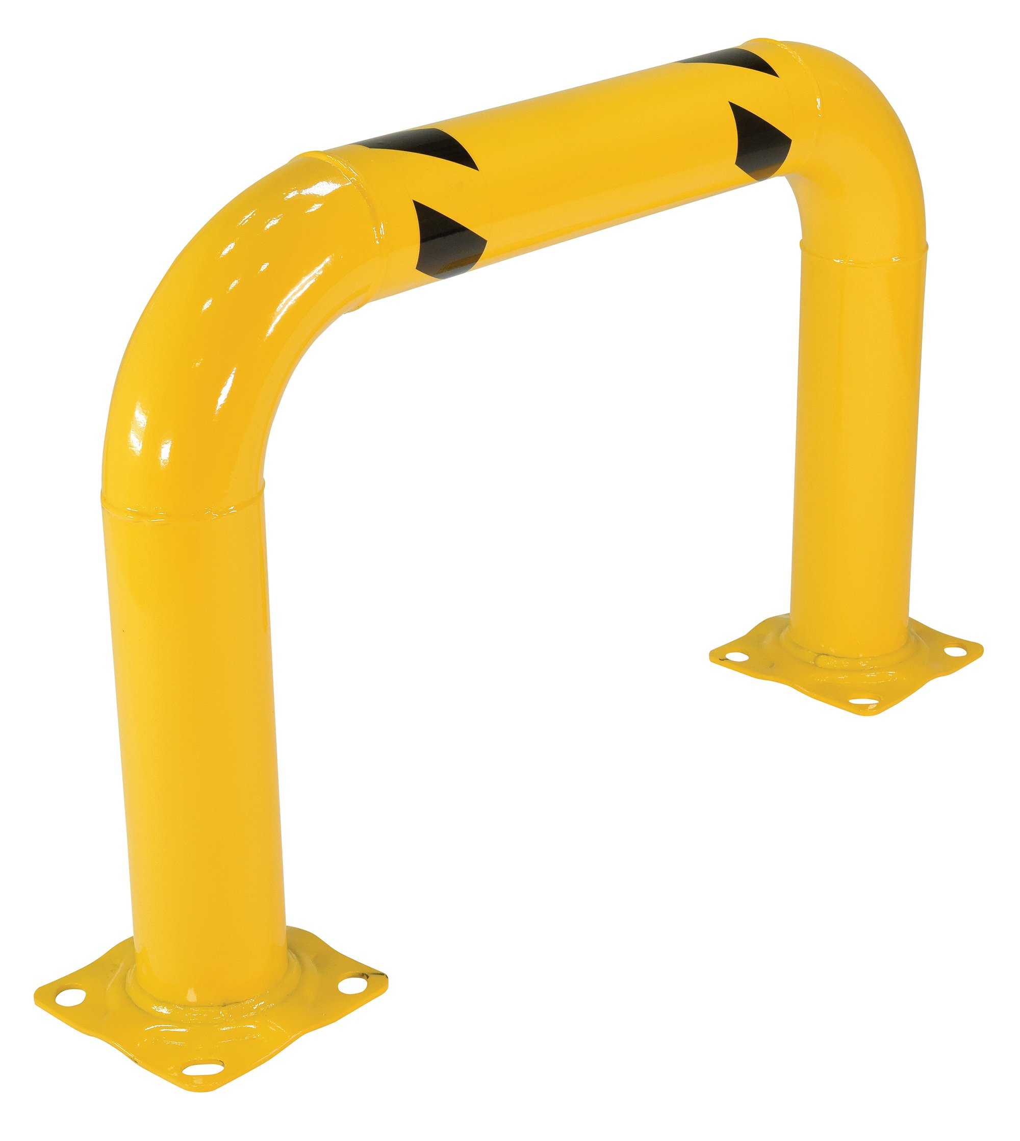 Vestil HPRO-36-24-4 Yellow Powder Coat High Profile Machinery Guard, Welded Steel, 4-1/2'' OD, 36'' Length, 24'' Height
