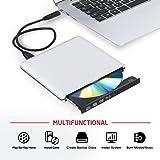 Lecteur Blu ray 4K OMorc Lecteur/Graveur Blu-ray USB 3.0 Externe Portable Graveur Drive BD/DVD/CD, ODD/HDD Externe Utra-slim pour Apple MacBook, Pro, Air, toutes les Mac OS systèmes, Windows XP, Vista, 7, 8, etc.