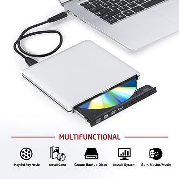 OMorc - Lector/grabador de Blu-ray USB 3.0 externo: Amazon.es: Electrónica