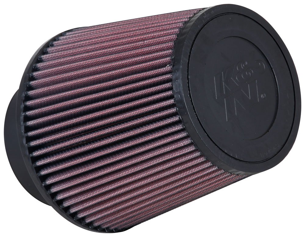 K&N RE-0950 Universal Clamp-On Air Filter: Round Tapered; 3.5 in (89 mm) Flange ID; 6 in (152 mm) Height; 6 in (152 mm) Base; 4.625 in (117 mm) Top by K&N