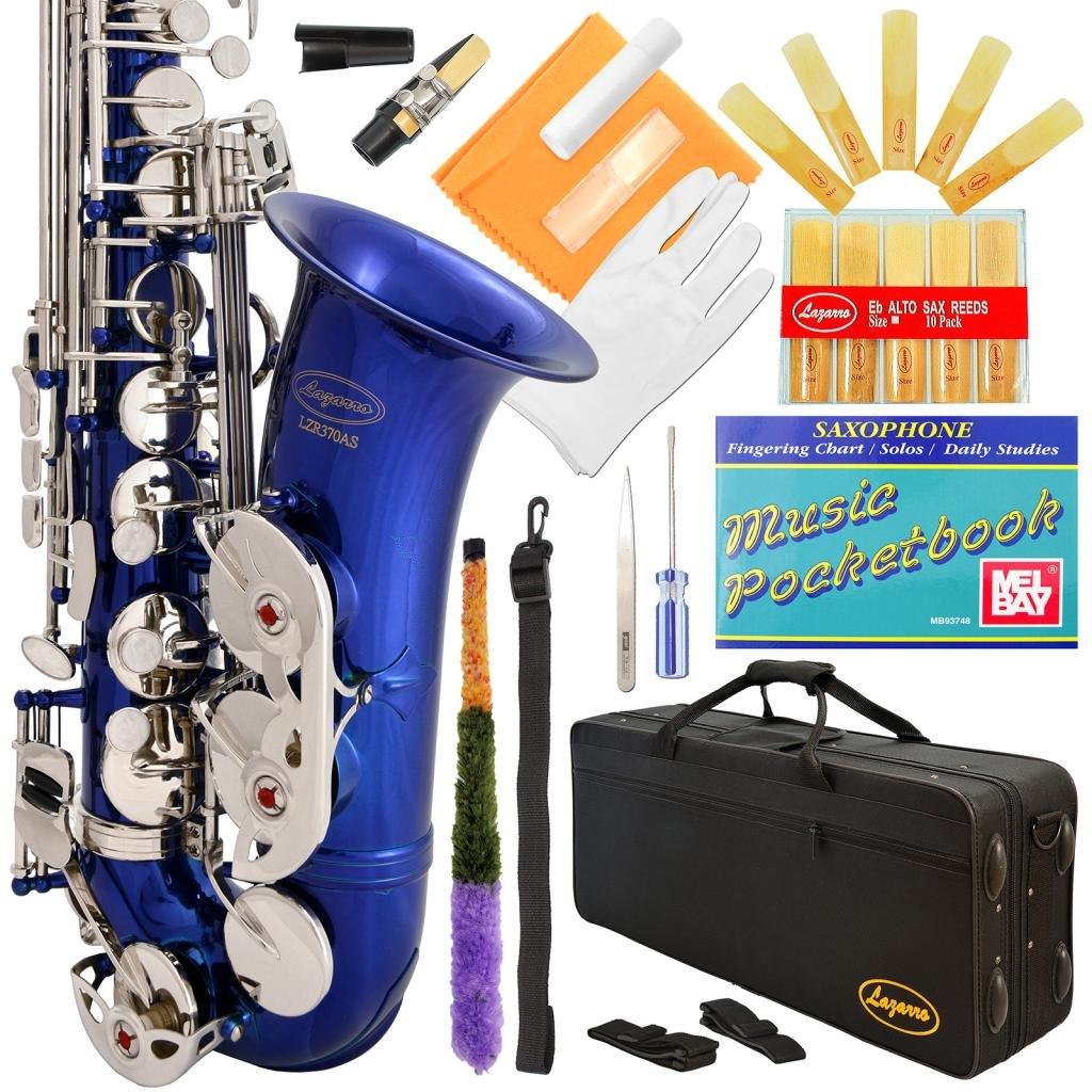 Saxofón alto Azul Lazarro con funda y accesorios (xmp)