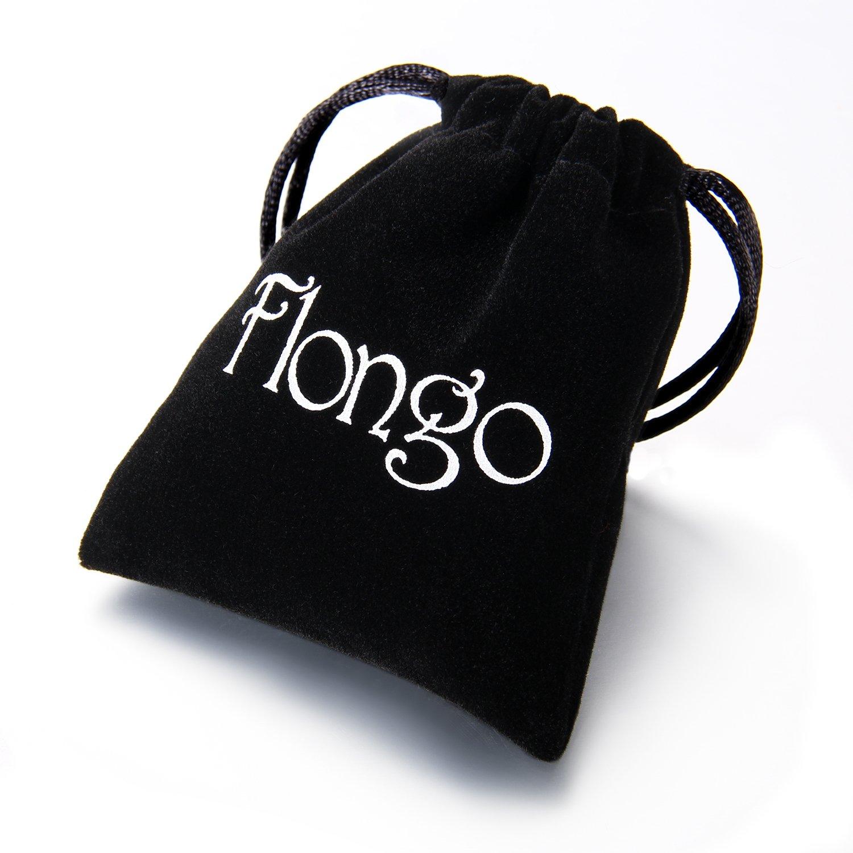 Flongo Men's Women Unisex Vintage Handmade Braided Leather Bead Surf Cuff Bracelet Set F056001