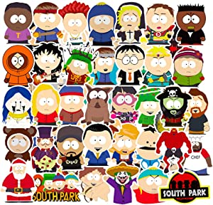 South Park Laptop Stickers 50pcs Pack for Cars Bomb Water Bottles Computer Skateboard Phone Luggage Bumper