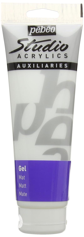 Pebeo Studio Acrylics Auxiliaries, Matt Gel, 250 ml Pebeo Fabricant de Couleurs 524220