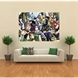Amazon Price History for:Fairy Tail Poster - Anime characters Giant Art Print G1117