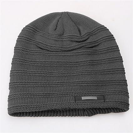 Le Coppie Cappelli Uomo Inverno cappe di Lana Maschile di Cappelli di  Maglia più Spessa Invernale b37d40d9424d